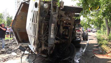 Photo of Грузовик протаранил две машины